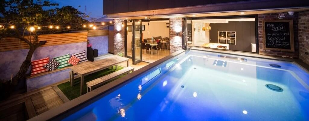 Beautiful above ground fibreglass plunge pool by Compass Pools Melbourne