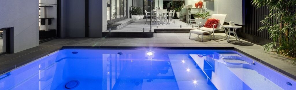 Inground plunge pool installation by Compass Pools Australia