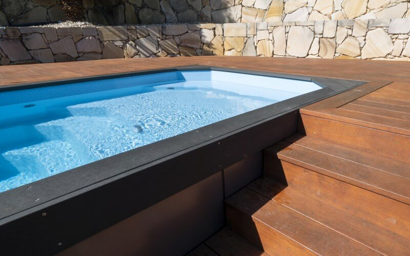 Relax small above ground pool installation Steps detail and pool landscaping