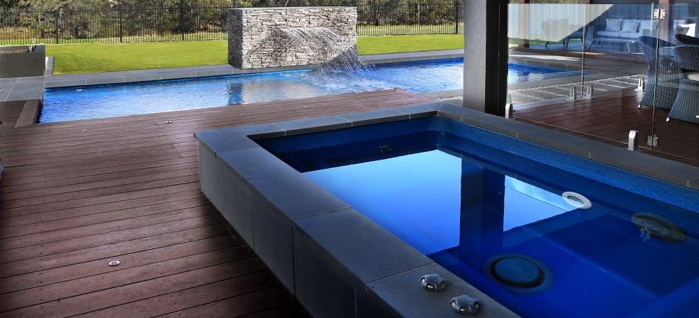 Pool and spa combo by Compass Australia