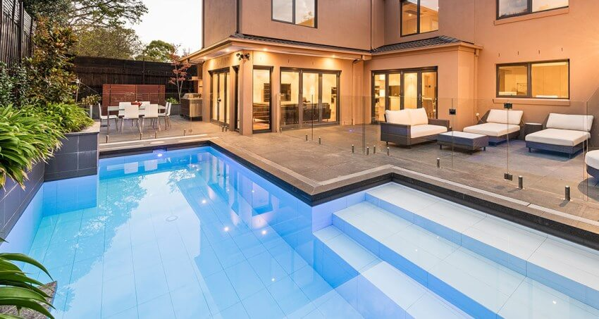 Concrete pool built by Natural Pools in Melbourne