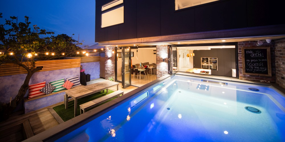 Small fibreglass swimming pool built by Compass Melbourne